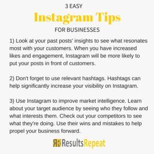 Instram tips for business