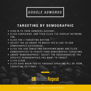 targeting by demographics in adwords