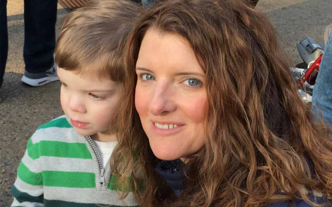 Lindsay Bender and son