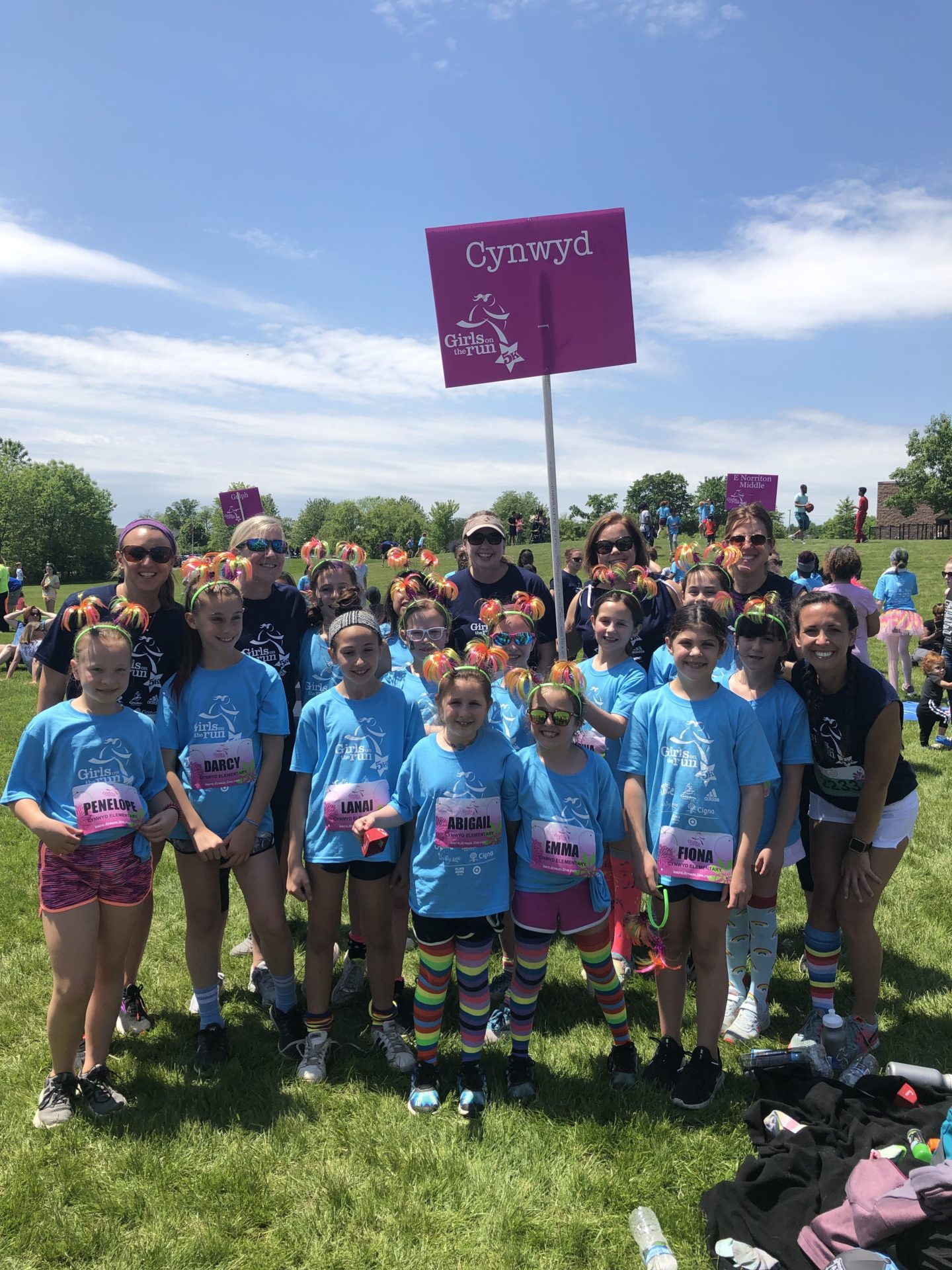 Haley Bank and her Girls on the Run PA team