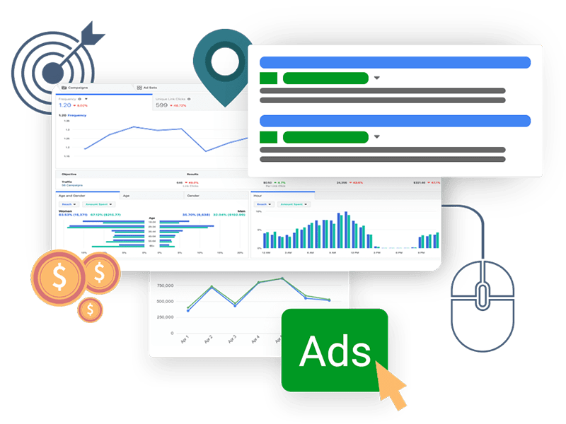Pay Per Click Advertising Digital Marketing Service