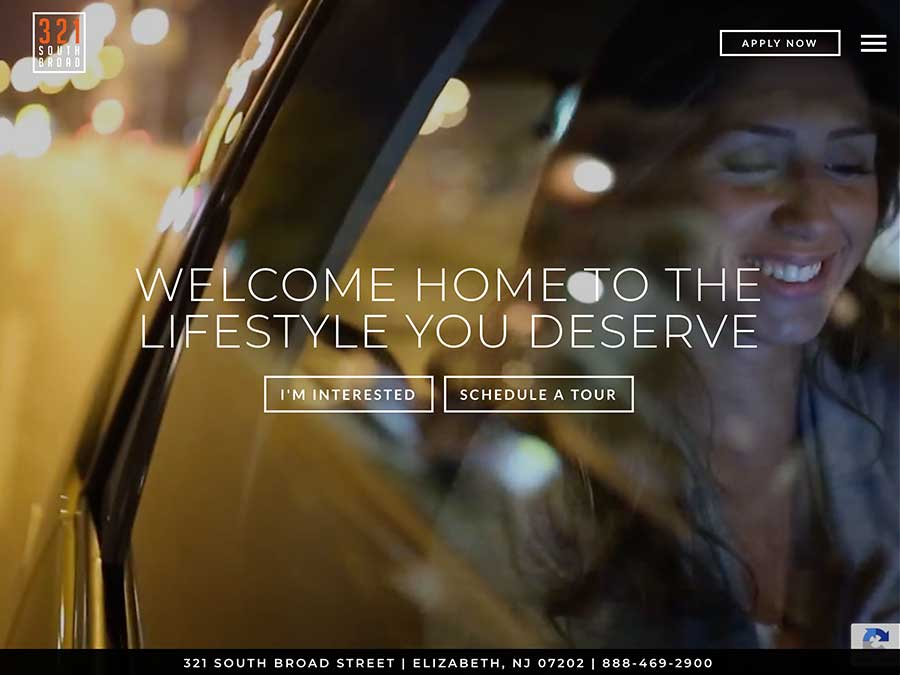 321 South Broad website homepage example