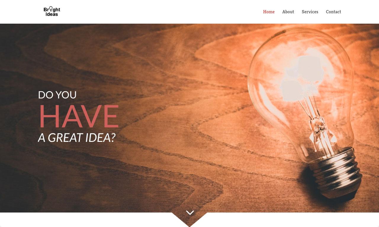 Bright Ideas Website theme screenshot
