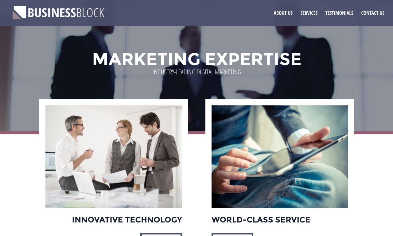 Business Block Website theme screenshot
