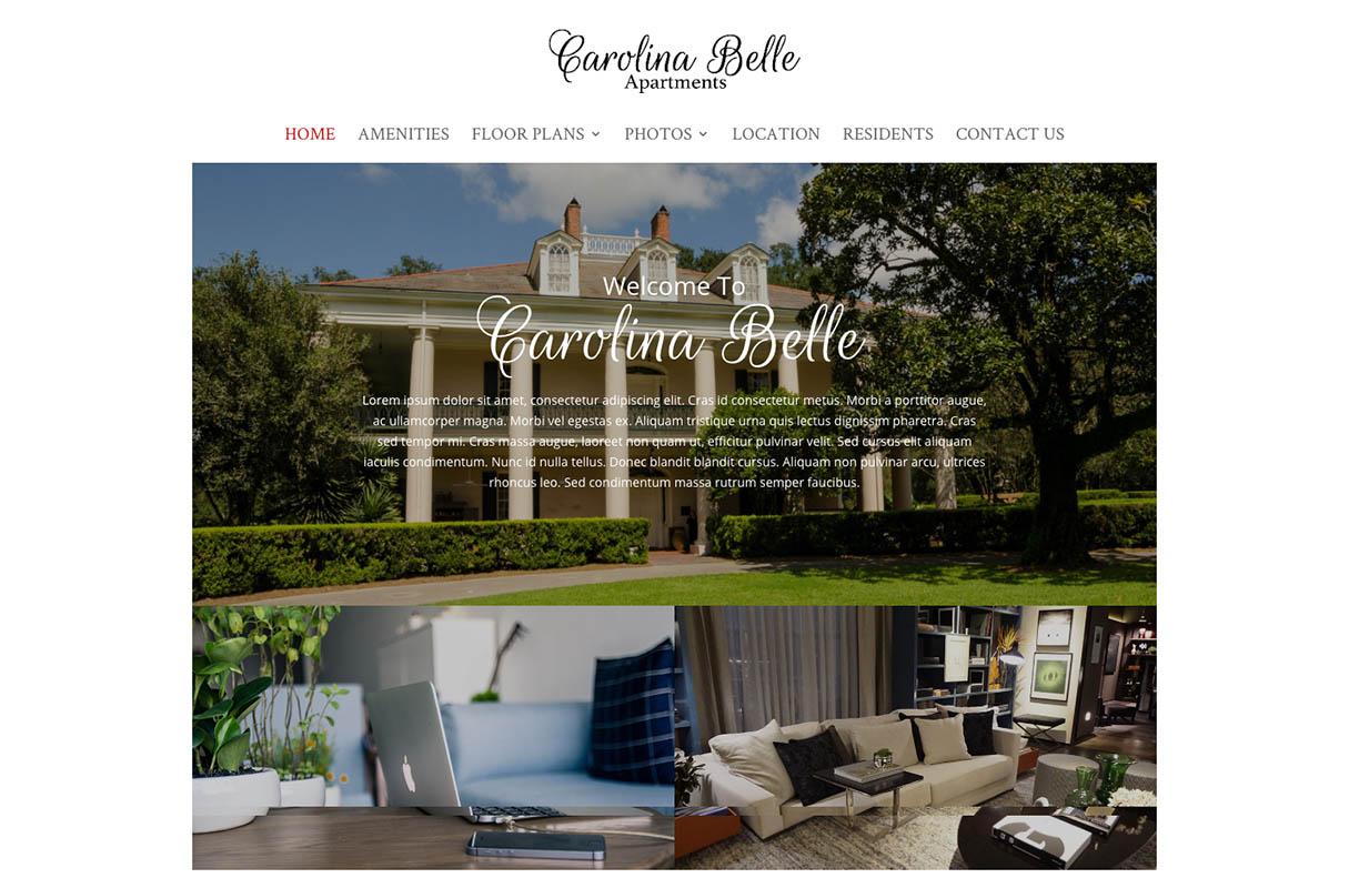Carolina Belle Website theme screenshot