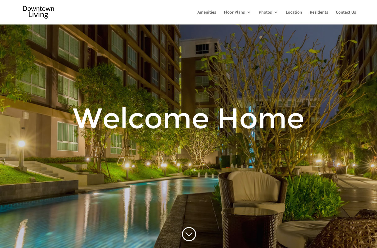 Downtown Living Website theme screenshot
