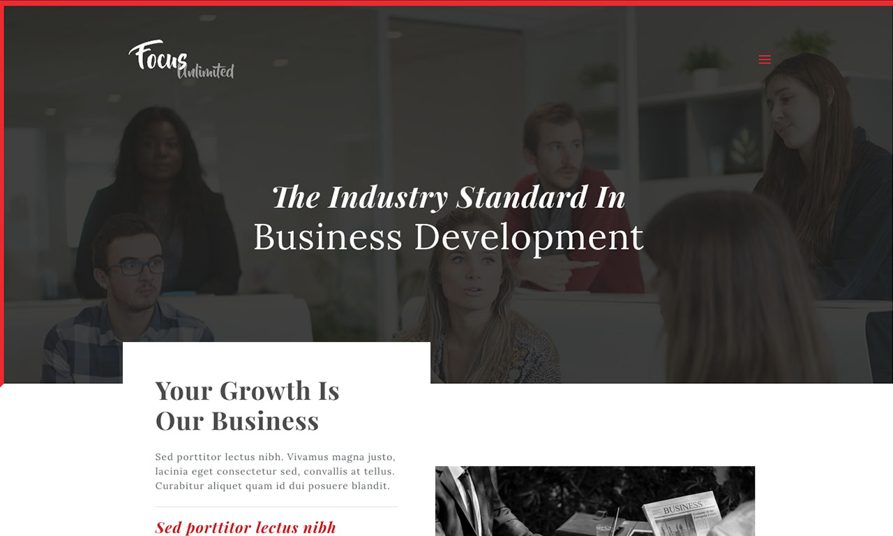 Focus Unlimited Website theme screenshot