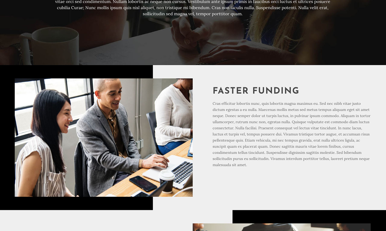 Founding Investments Website theme screenshot