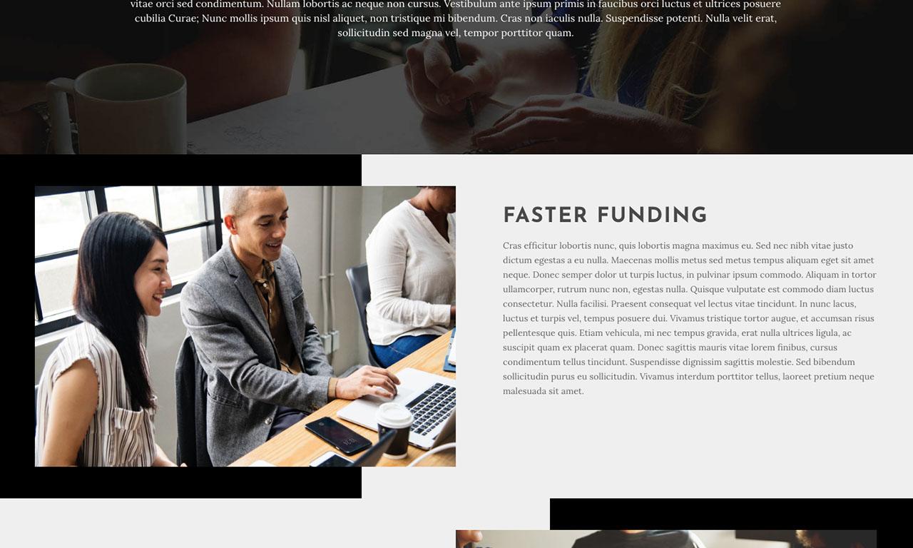 Founding Investments Website theme screenshot