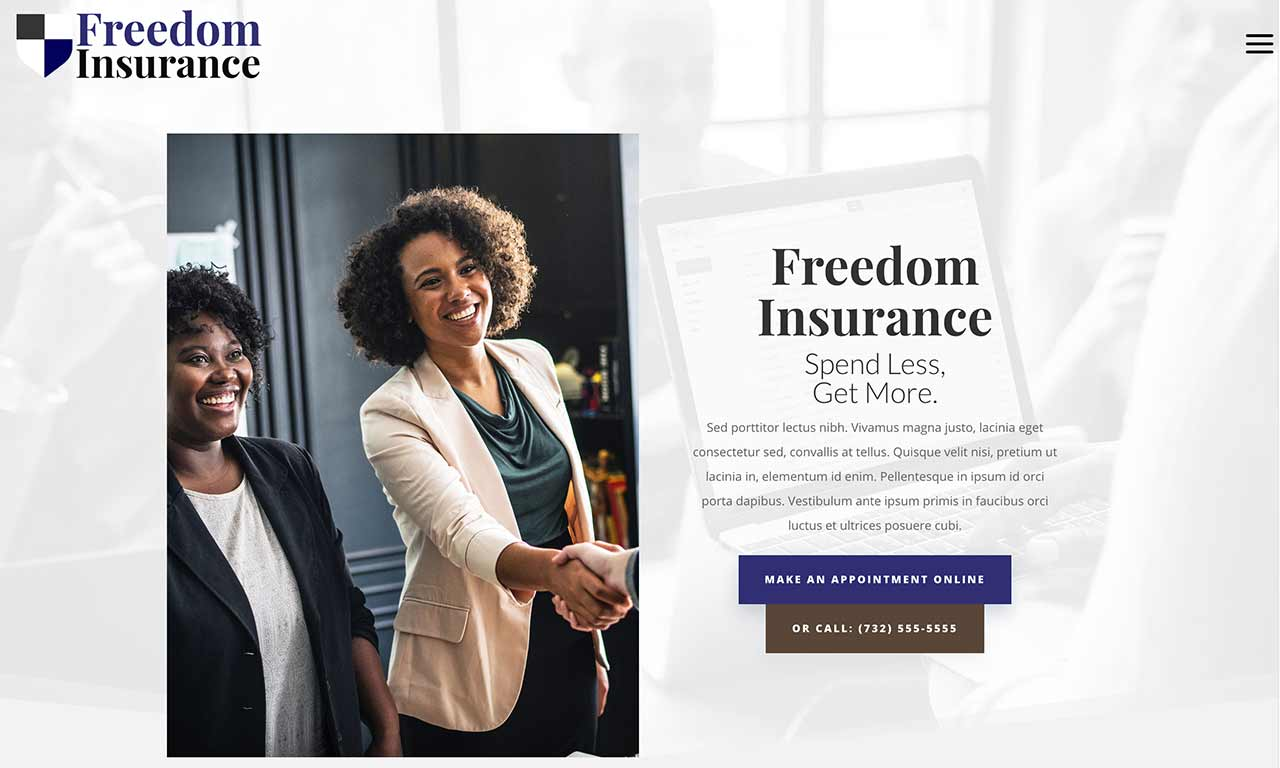 Freedom Website theme screenshot