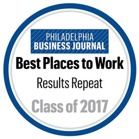 Philadelphia Business Journal Best Places to Work Award - Class of 2017