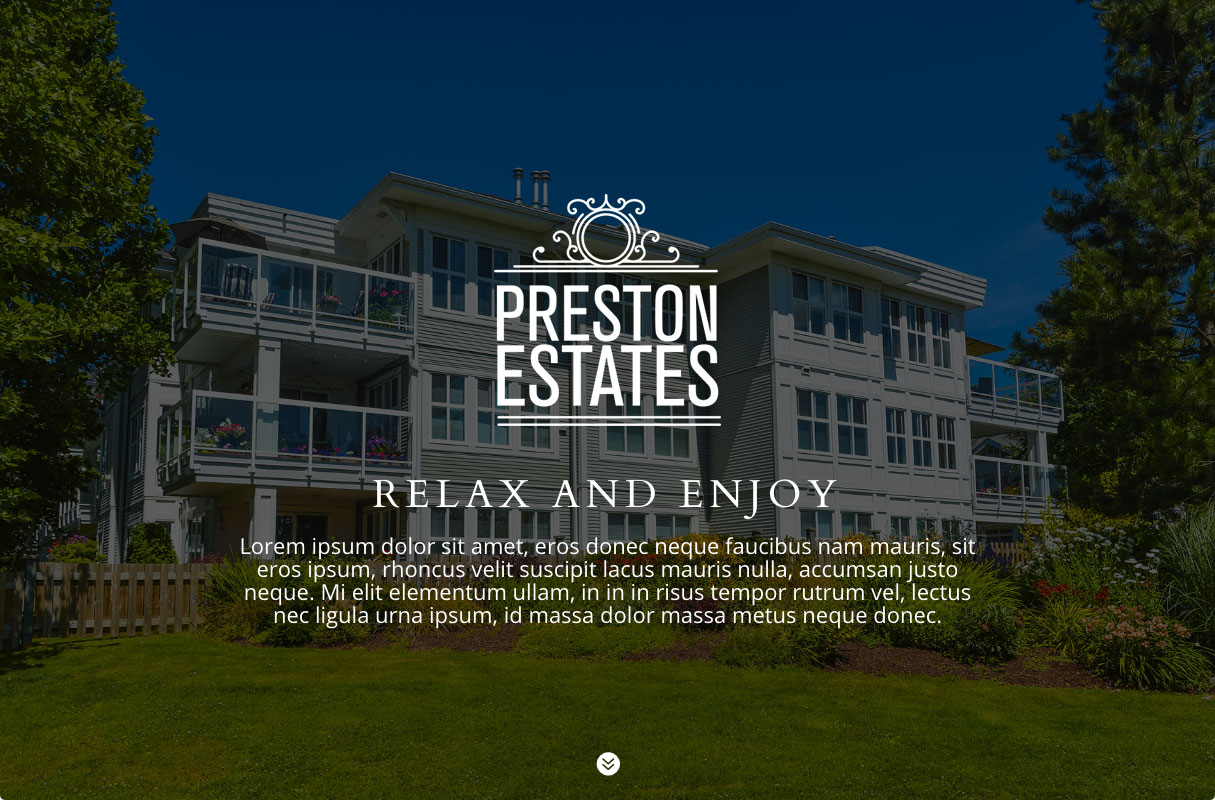 Preston Estates Website theme screenshot
