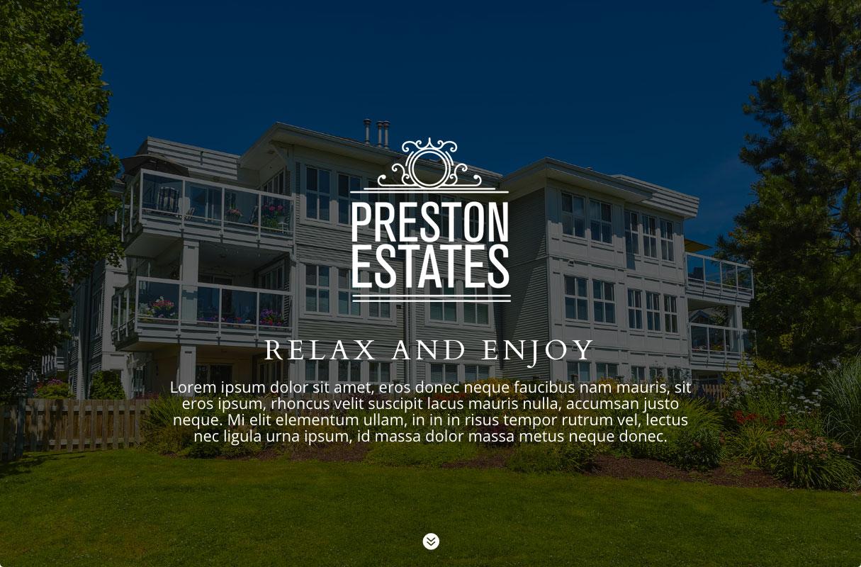 Preston Estates Website theme screenshot