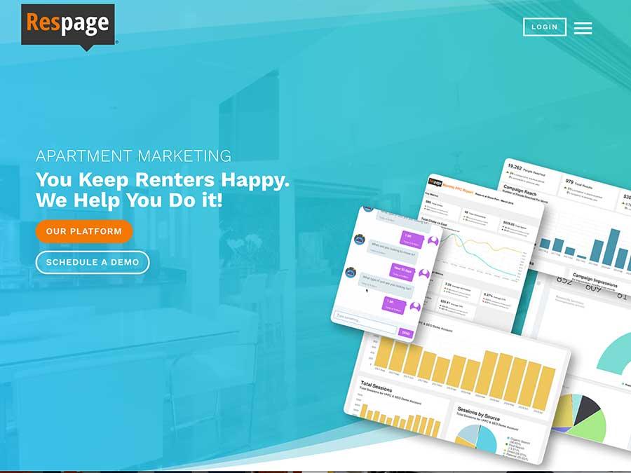 Respage website homepage example