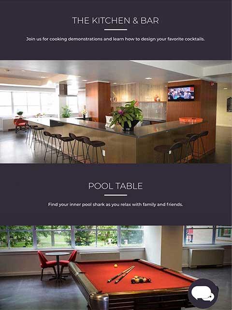 Rittenhouse Claridge Website Tablet View Example