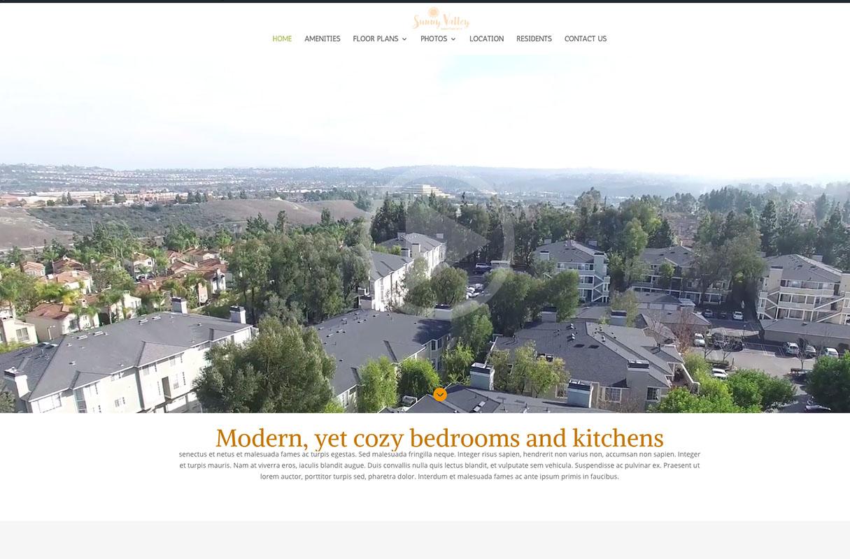 Sunny Valley Website theme screenshot