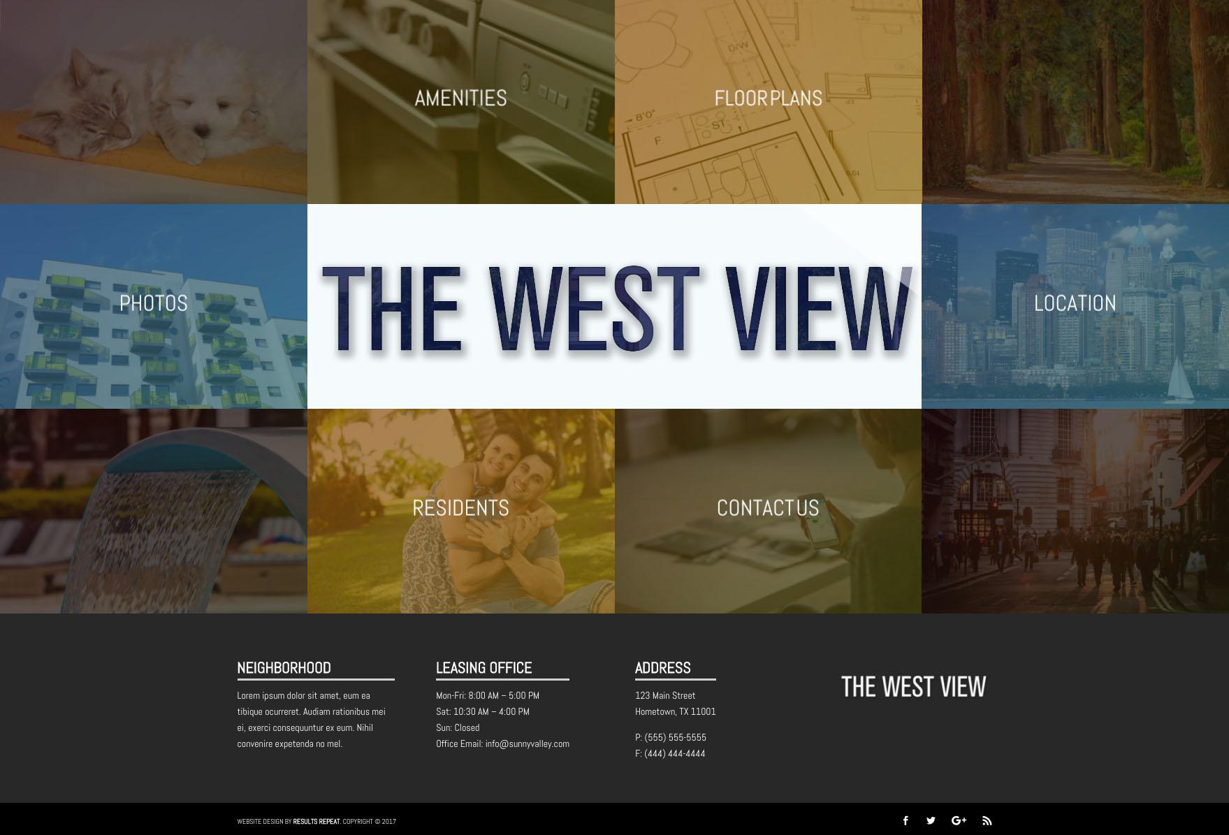 West View Website theme screenshot