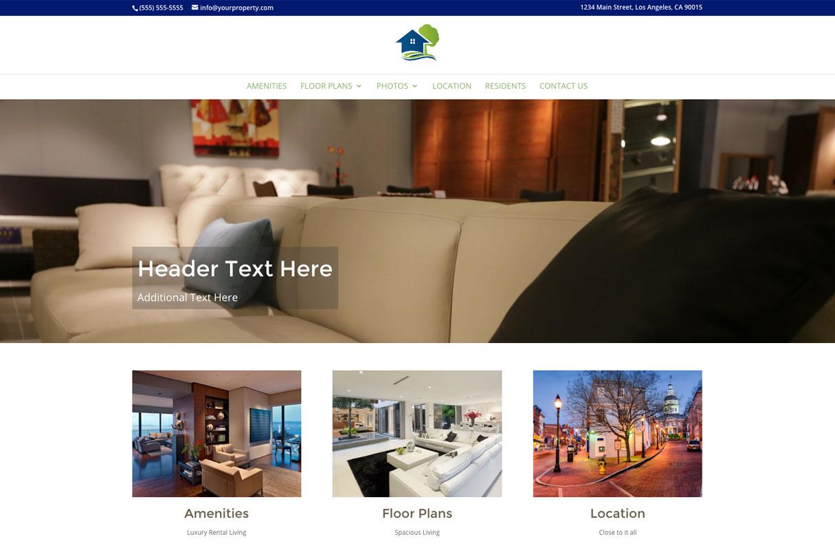 Villages Website theme screenshot