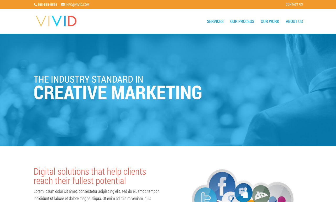 Vivid Website theme screenshot