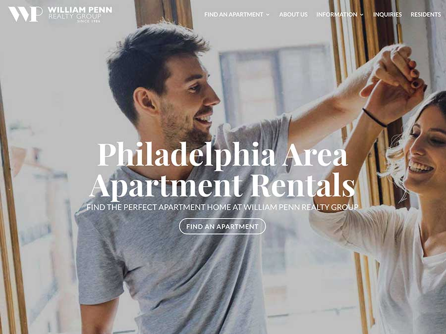 William Penn Realty website homepage example
