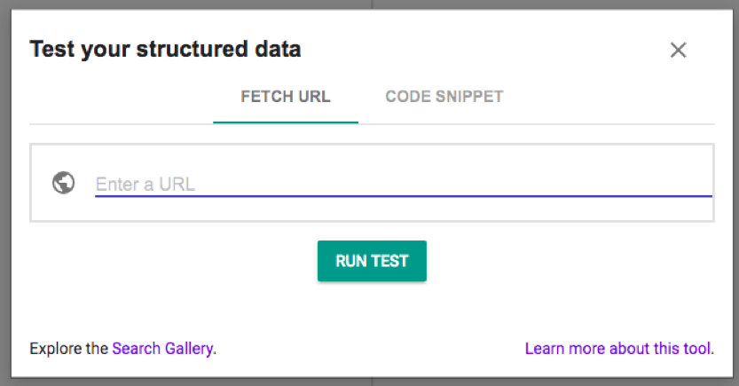 Google's old Structured Data Testing Tool