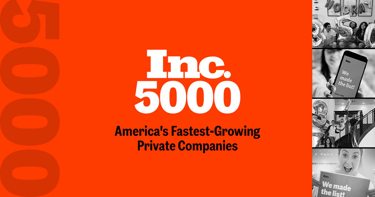 Logo for the Inc, 5000 America's Fastest-Growing Private Companies List