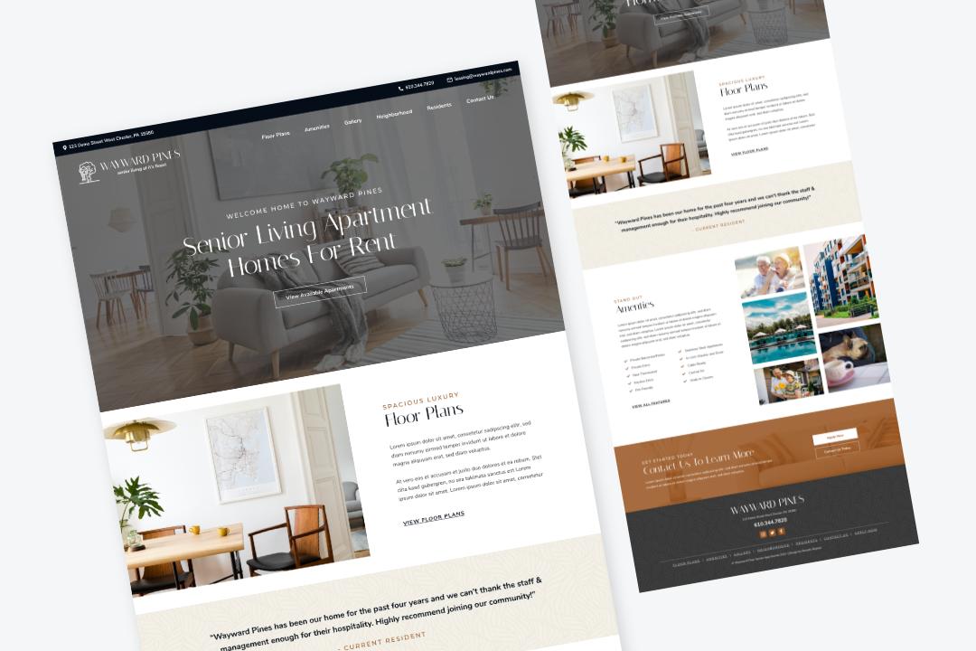 Wayward Pines website template